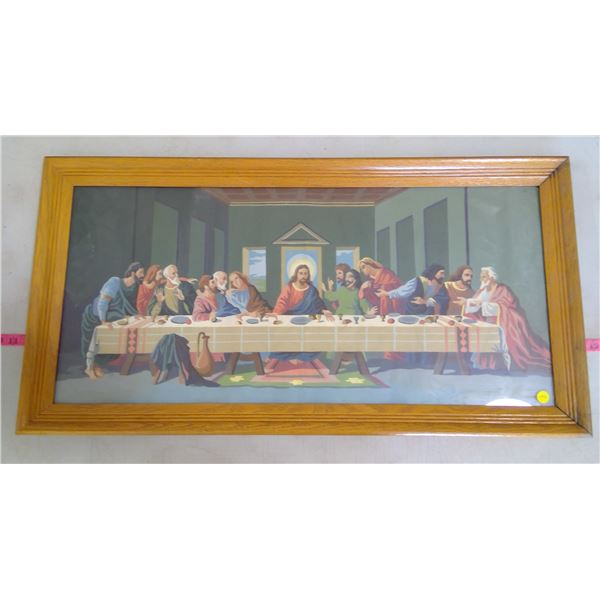 """Large Wooden Framed Print of """"The Last Supper"""""""