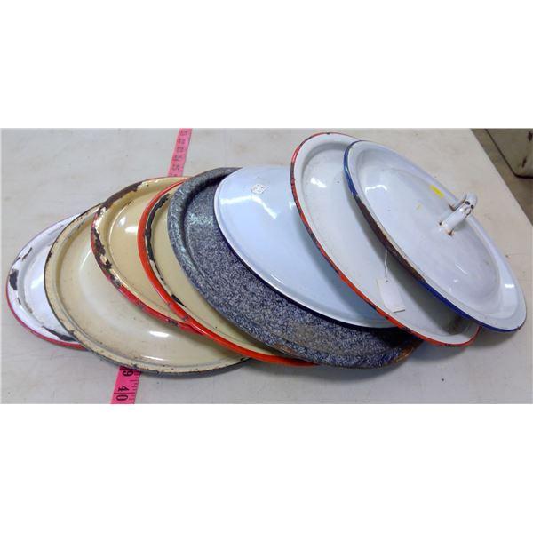 Enamelware - 8 Pots & Pans Lids