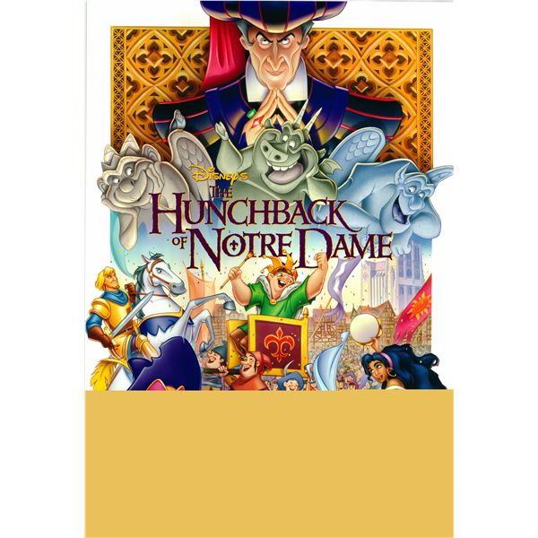 The Hunchback of Notre Dame 1996 original one sheet movie poster