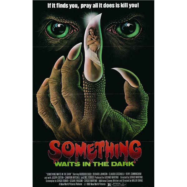 Something Waits in the Dark original 1980 vintage one sheet movie poster