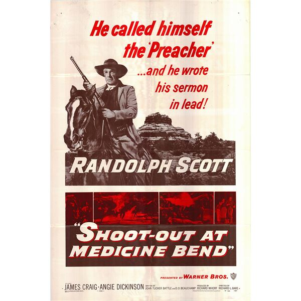 Shoot-Out at Medicine Bend original 1957 vintage one sheet movie poster