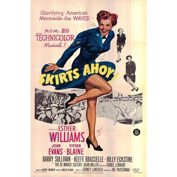 Skirts Ahoy! original 1952 vintage one sheet movie poster