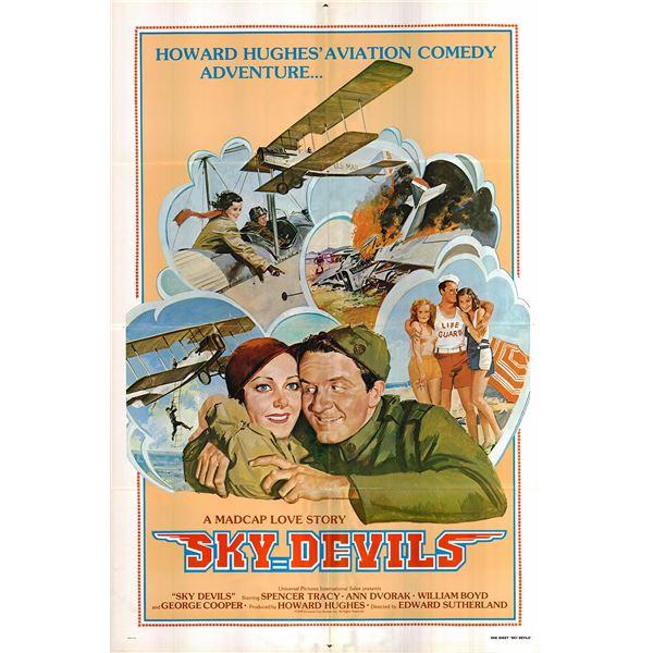 Sky Devils original 1979R vintage one sheet movie poster