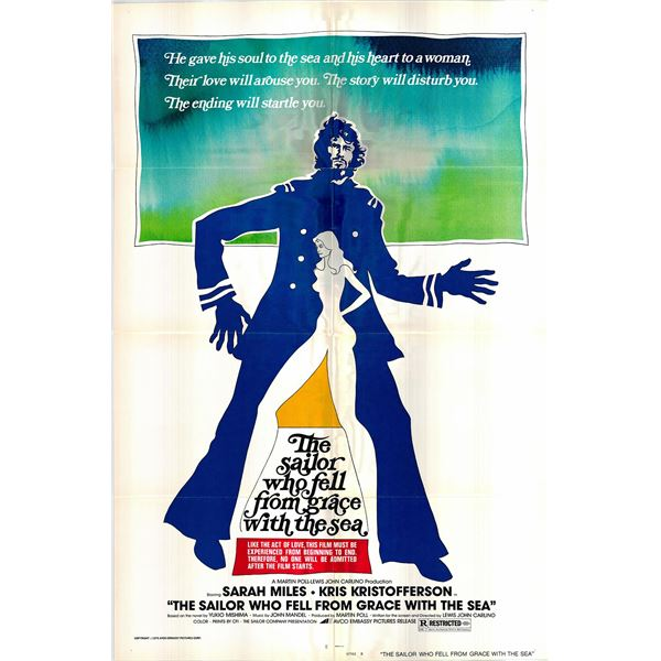 The Sailor Who Fell from Grace with the Sea original 1976 vintage one sheet movie poster