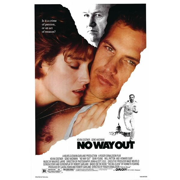 No Way Out 1987 original vintage movie poster