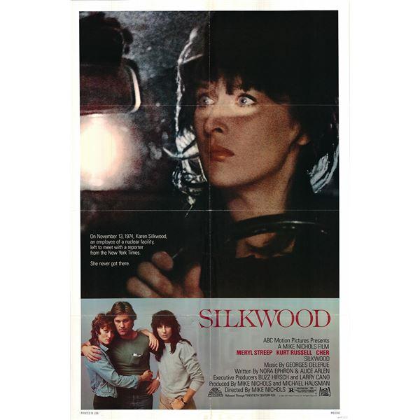 Silkwood original 1983 vintage one sheet movie poster