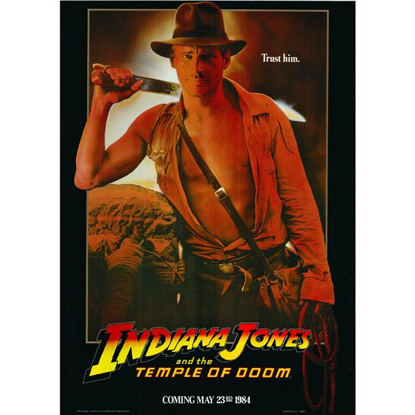 Indiana Jones and the Temple of Doom 1984 original vintage one sheet movie poster