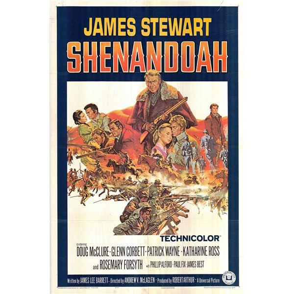Shenandoah original 1965 vintage one sheet movie poster
