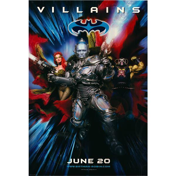 Batman & Robin Villains 1997 original advance sheet