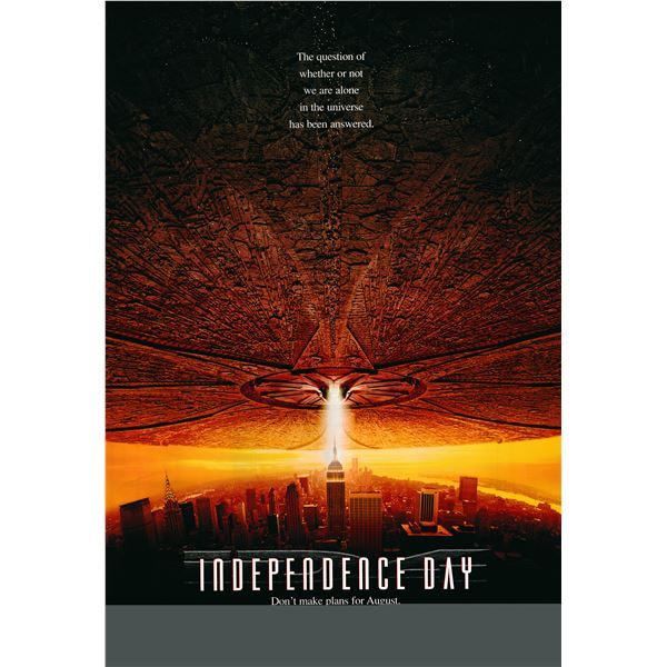 Independence Day 1996 original advance sheet movie poster