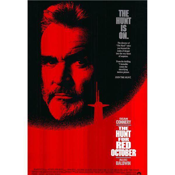 The Hunt for Red October original 1990 vintage one sheet movie poster