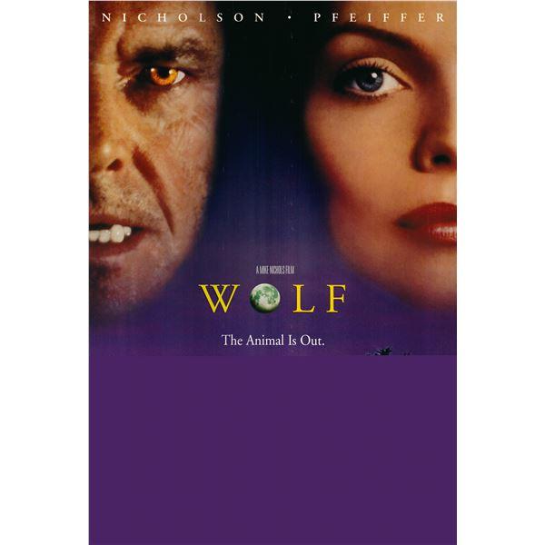 Wolf 1993 original one sheet movie poster