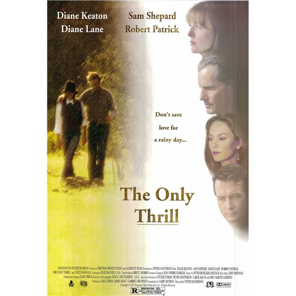 The Only Thrill original 1998 vintage one sheet movie poster
