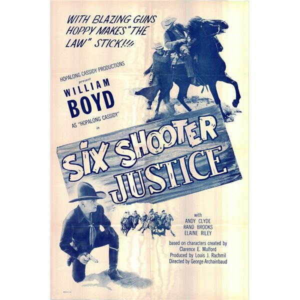 Six Shooter Justice original 1955R vintage one sheet movie poster