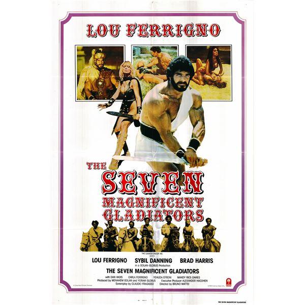 The Seven Magnificent Gladiators original 1983 vintage one sheet movie poster