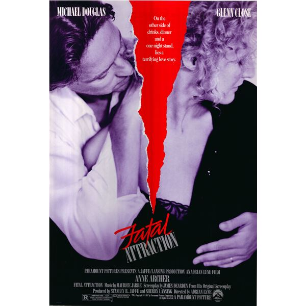 Fatal Attraction 1987 original vintage one sheet movie poster