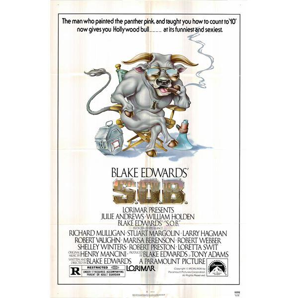 S.O.B. original 1981 vintage one sheet movie poster