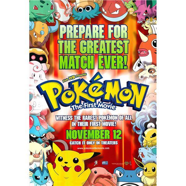 Pokemon original 1999 vintage advance one sheet movie poster