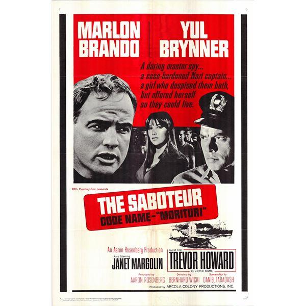 The Saboteur original 1965 vintage one sheet movie poster