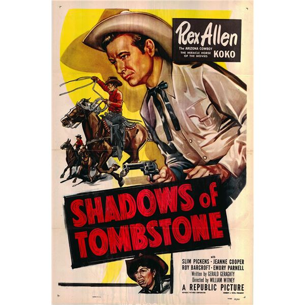 Shadows of Tombstone original 1953 vintage one sheet movie poster