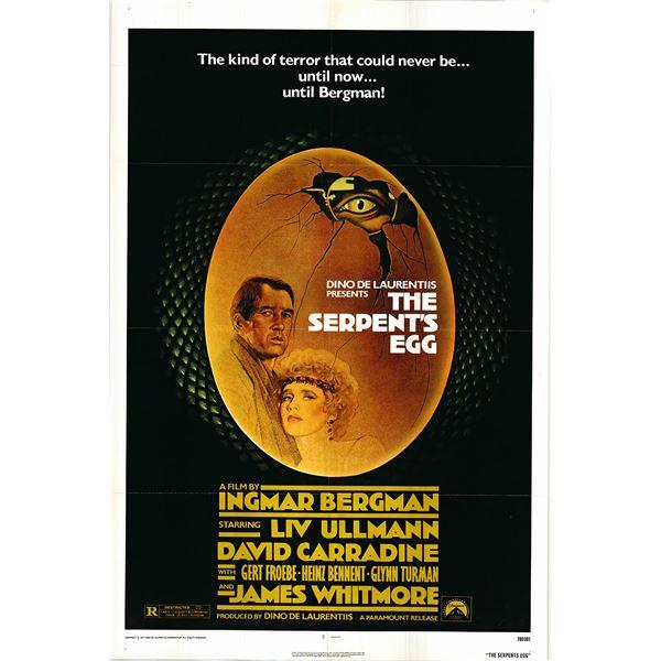 The Serpent's Egg original 1978 vintage one sheet movie poster