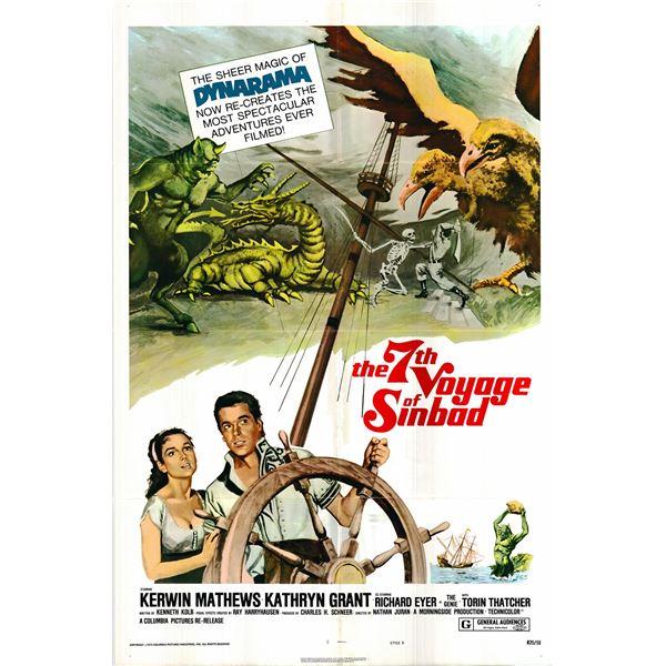 The 7th Voyage of Sinbad original 1975R vintage one sheet movie poster