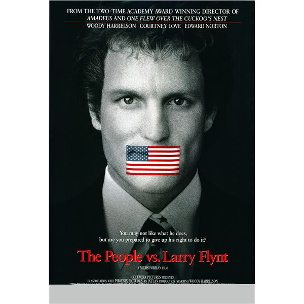 The People vs. Larry Flynt 1996 original one sheet movie poster