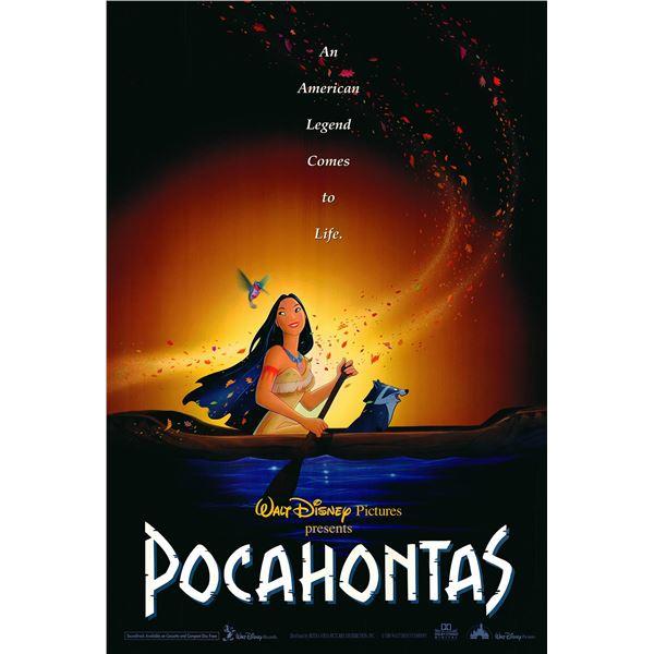 Pocahontas original 1995 one sheet movie poster