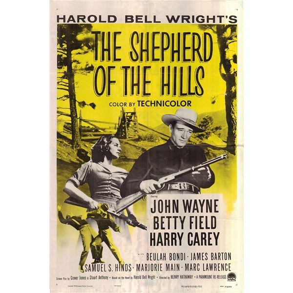 The Shepherd of the Hills original 1955R vintage one sheet movie poster