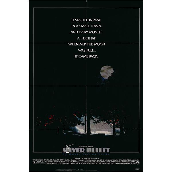 Silver Bullet original 1985 vintage one sheet movie poster