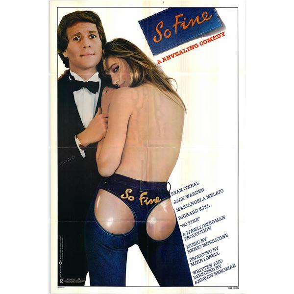 So Fine original 1981 vintage one sheet movie poster