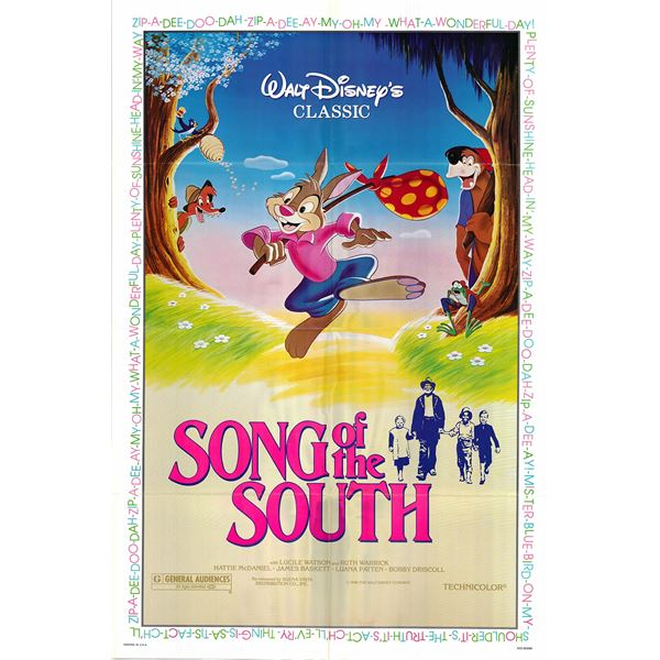 Song of the South original 1980R vintage one sheet movie poster