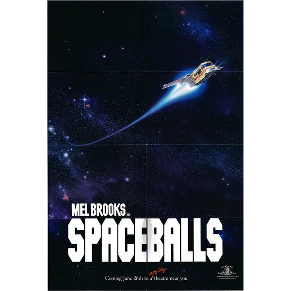 Spaceballs original 1986 vintage advance one sheet movie poster
