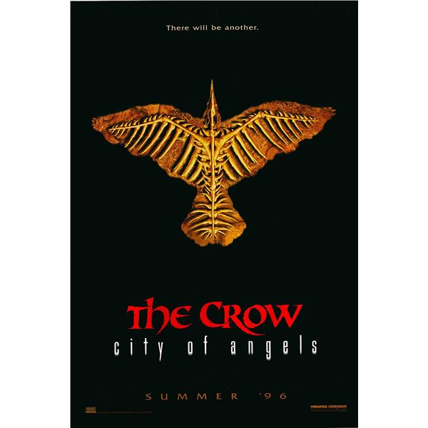 The Crow 2: City of Angels original 1996 vintage advance one sheet movie poster