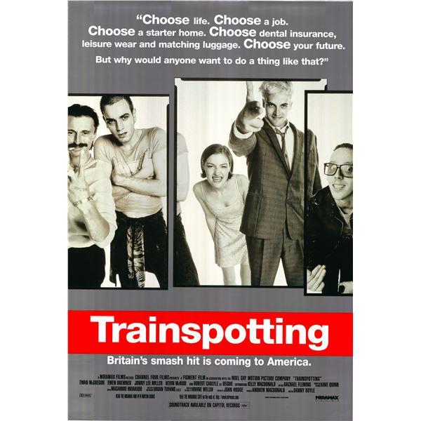 Trainspotting 1996 original advance sheet movie poster