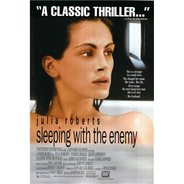 Sleeping with the Enemy original 1991 vintage one sheet movie poster