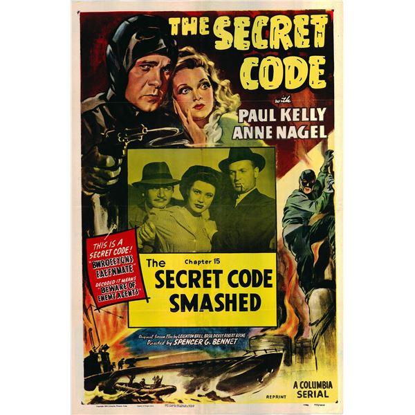 The Secret Code original 1953R vintage one sheet movie poster