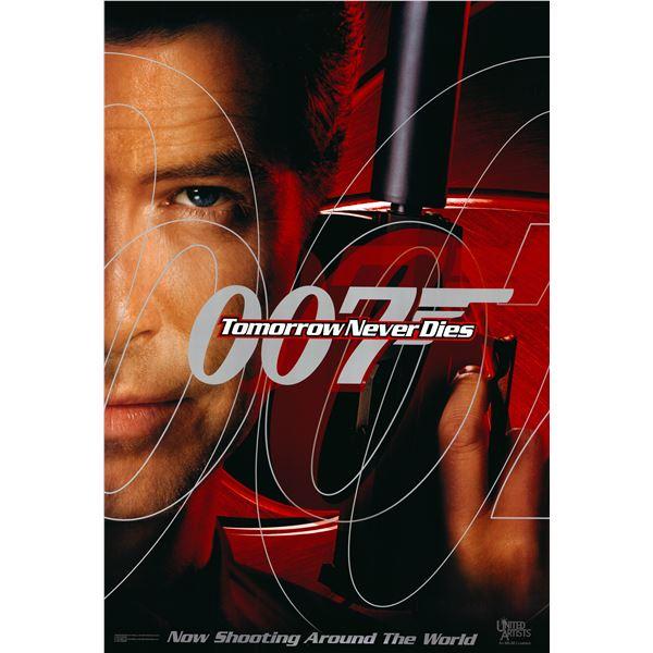 007 Tomorrow Never Dies 1997 original advance sheet movie poster