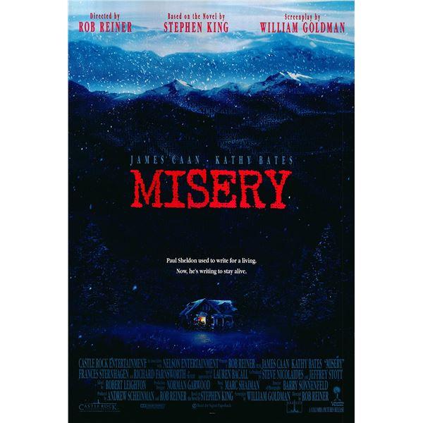 Misery original 1990 vintage one sheet movie poster