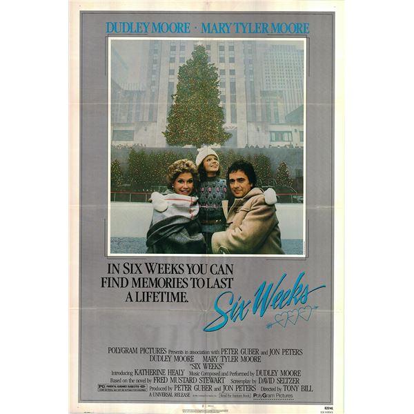 Six Weeks original 1982 vintage one sheet movie poster