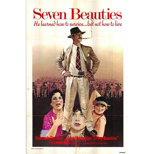 Seven Beauties original 1976 vintage one sheet movie poster
