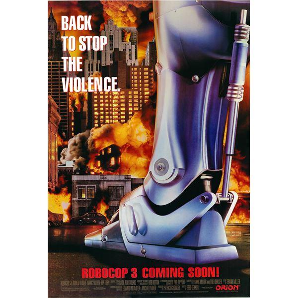 Robocop 3 original 1993 vintage advance one sheet movie poster