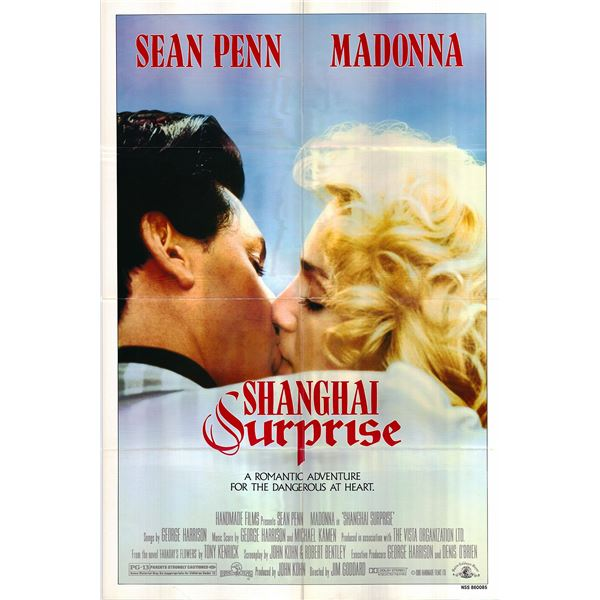 Shanghai Surprise original 1986 vintage one sheet movie poster