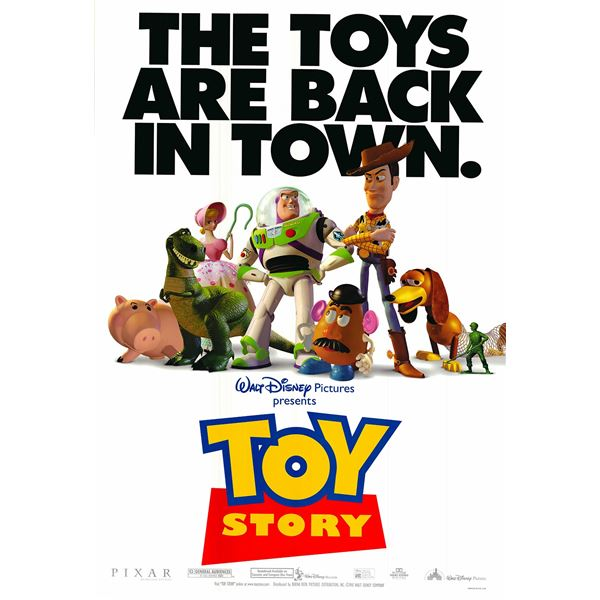 Toy Story original 1995 vintage one sheet movie poster
