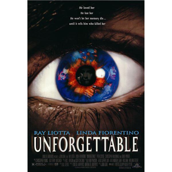 Unforgettable original 1996 vintage one sheet movie poster