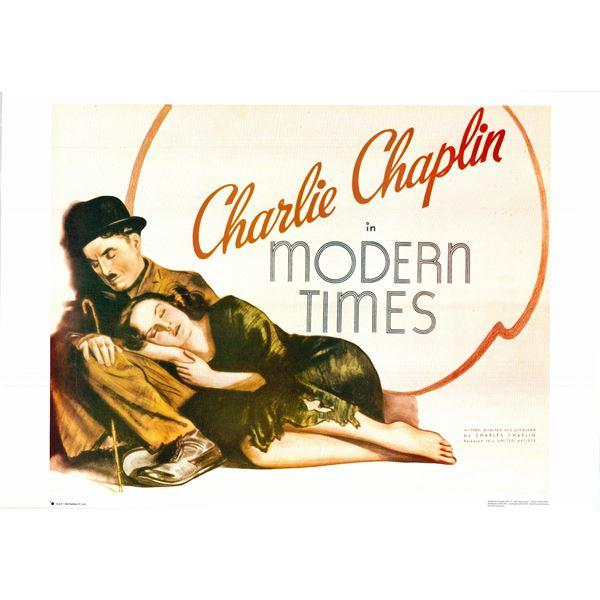 Charlie Chaplin: Modern Times original 1980R vintage one sheet movie poster