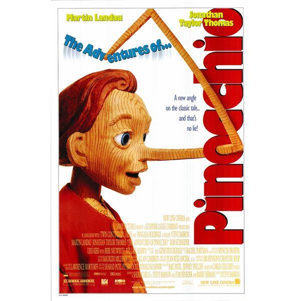 The Adventures of Pinocchio original 1996 vintage one sheet movie poster