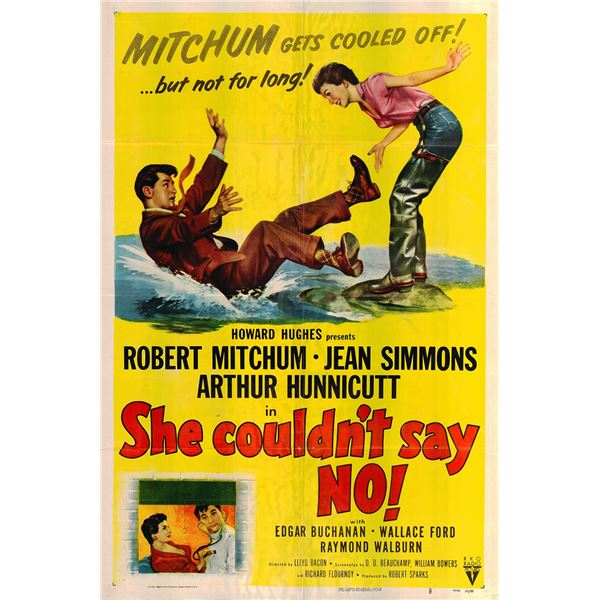 She Couldn't Say No original 1954 vintage one sheet movie poster