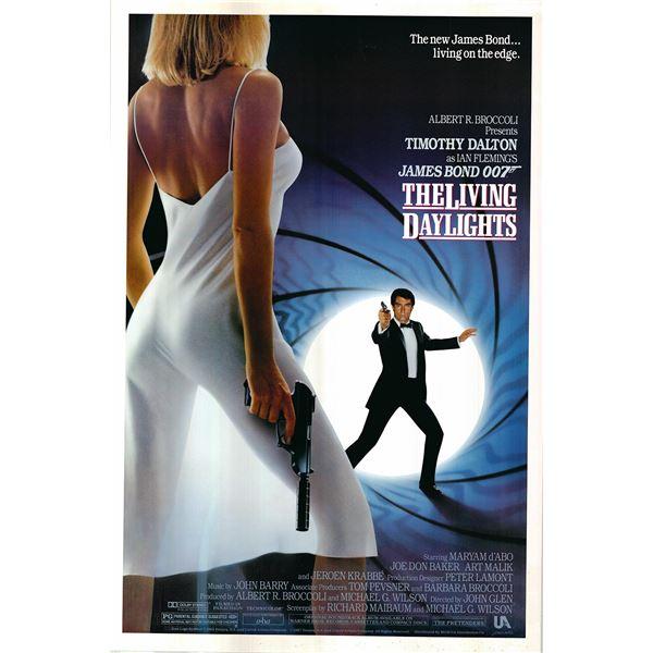 James Bond: The Living Daylights original 1987 vintage one sheet movie poster