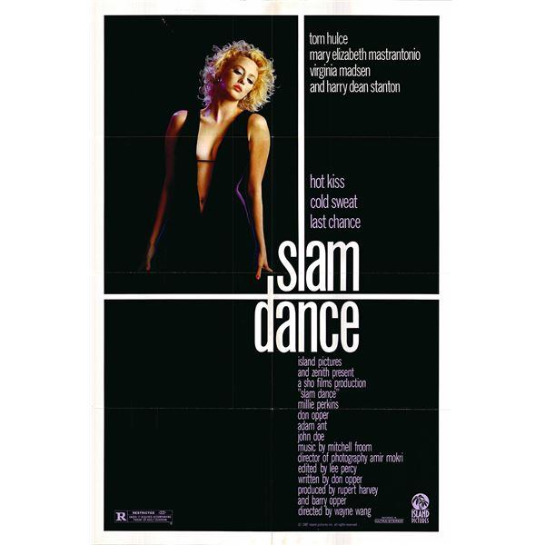 Slam Dance original 1987 vintage one sheet movie poster
